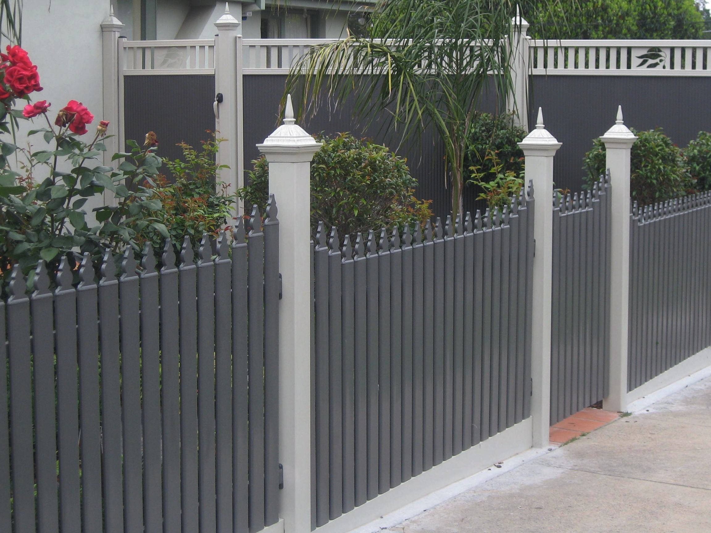 Steel Slat Picket Fencing Metal Picket Fencing Steel
